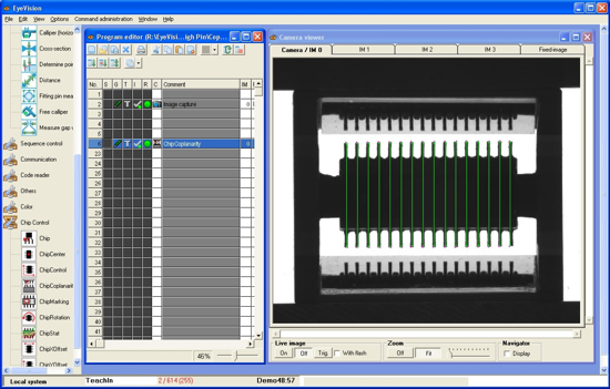 ChipControl - The One Command set for the visual inspection of electronic components